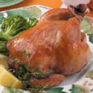 Apple-Glazed Cornish Hens