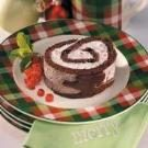 Peppermint Cake Log