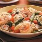 Asparagus 'n' Shrimp with Angel Hair
