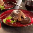 Molten Chocolate Cakes with Mint Fudge Sauce Recipe ...