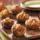 Healthy Cheese Stuffed Mushrooms