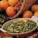 Orange Buttered Peas
