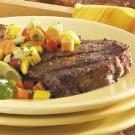 Strip Steaks with Mango Salsa