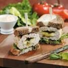 Pesto-Mozzarella Turkey Burgers