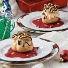 Cream Puffs with Raspberry Sauce