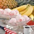 Homemade Banana Split Ice Cream
