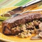Wild Rice-Stuffed Steaks