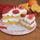 Strawbery Orange Meringue Cake