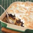 Chocolate Meringue Bread Pudding