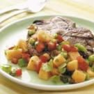 Grilled Pork Chops with Cilantro Salsa