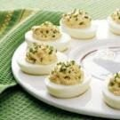 Chicken Creole Deviled Eggs