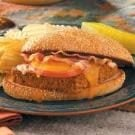 Cheeseburger Meat Loaf Hoagies