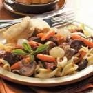 Beef and Pasta Burgandy