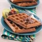 Pecan Chocolate Waffles