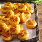 Mini Corn Muffins with Spicy Cheddar Filling