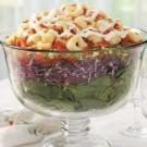 Layered Tortellini-Spinach Salad
