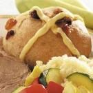 Spiced Fruited Hot Cross Buns