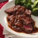 Grilled Sirloin with Chili-Beer Barbecue Sauce
