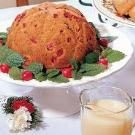 Steamed Cranberry Pudding with Hard Sauce