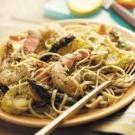 Pesto Shrimp Pasta Toss