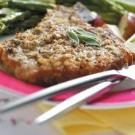 Veal Chops with Mustard-Sage Crust