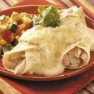 Quick Creamy Chicken Enchiladas
