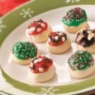 Glazed Cherry Bon Bon Cookies