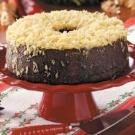Danish Christmas Cake with Orange Coconut Topping