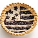 American Flag Berry Pie