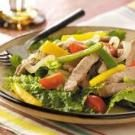 Warm Pork Fajita Salad