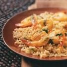 Sauteed Orange Shrimp with Rice