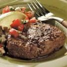 Peppered Filets with Tomato-Mushroom Salsa