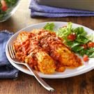 Three-Cheese Turkey Manicotti