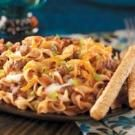 Lighter Hamburger Noodle Casserole