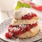 Coconut Cranberry Shortcakes