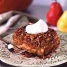 Pumpkin Pear Bread Pudding