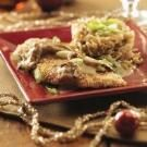 Sesame Chicken with Ginger Shiitake Cream Sauce