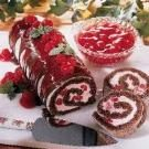 Chocolate Cherry Cream-Filled Log