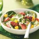 Smoked Sausage-Spinach Salad