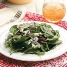Spinach-Onion Salad with Hot Bacon Dressing