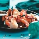Wasabi Bacon-Wrapped Shrimp