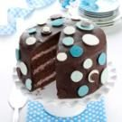 Chocolate-Raspberry Polka Dot Cake