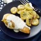 Chicken Rellenos with Cilantro-Lime Cream Sauce