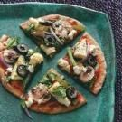 Greek Pita Veggie Pizzas