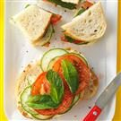 Mint-Cucumber Tomato Sandwiches