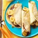 Chocolate-Hazelnut Banana Crepes