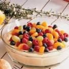 Fruit-Topped Almond Cream