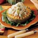 Chicken Salad on Cantaloupe Rings