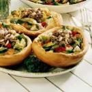Salad in a Bread Bowl
