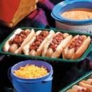 Hot Dogs with Chili Beans